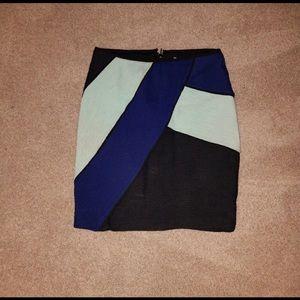 Anthropologie Maeve Colorblock Skirt